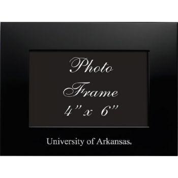 University of Arkansas - 4x6 Brushed Metal Picture Frame - Black
