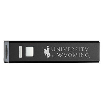 University of Wyoming - Portable Cell Phone 2600 mAh Power Bank Charger - Black