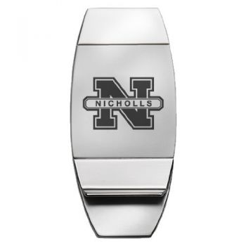 Nicholls State University - Two-Toned Money Clip - Silver
