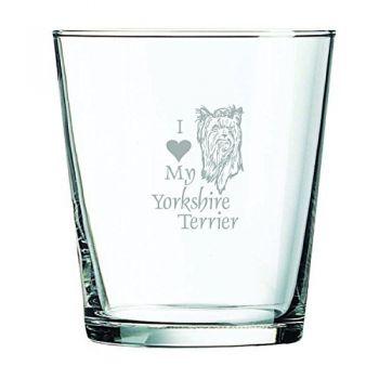 13 oz Cocktail Glass  - I Love My Yorkie