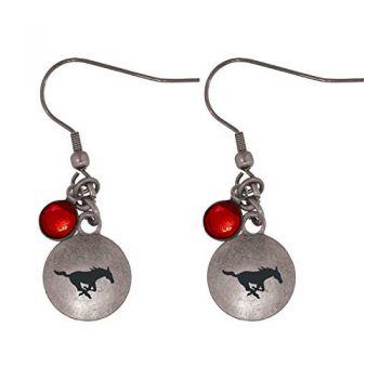 Southern Methodist University-Frankie Tyler Charmed Earrings