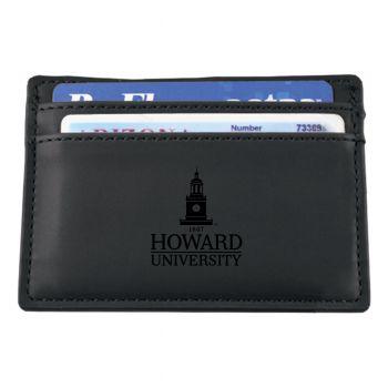 Howard University-European Money Clip Wallet-Black