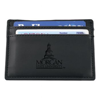 Morgan State University-European Money Clip Wallet-Black