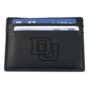 University of Denver-European Money Clip Wallet-Black