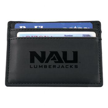Northern Arizona University-European Money Clip Wallet-Black