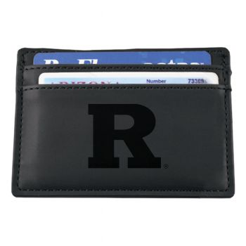 Rutgers University-European Money Clip Wallet-Black