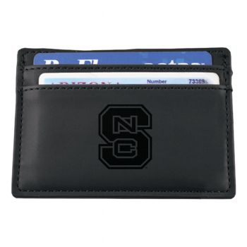 North Carolina State University-European Money Clip Wallet-Black