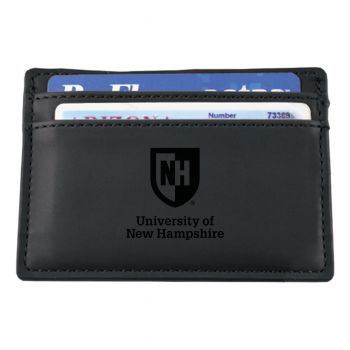 University of New Hampshire-European Money Clip Wallet-Black