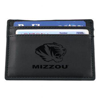 University of Missouri-European Money Clip Wallet-Black