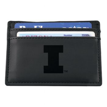 University of Illinois at Urbana–Champaign-European Money Clip Wallet-Black