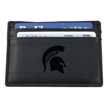 Michigan State University-European Money Clip Wallet-Black