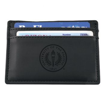 University of the Pacific-European Money Clip Wallet-Black