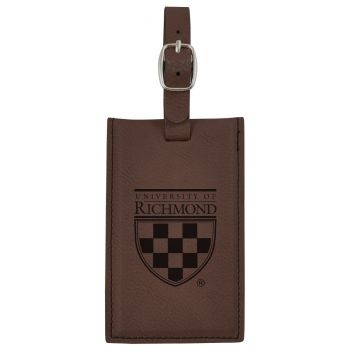 University of Richmond -Leatherette Luggage Tag-Brown
