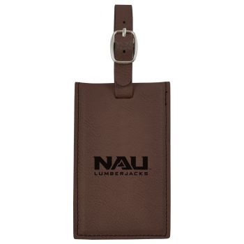 Northern Arizona University -Leatherette Luggage Tag-Brown