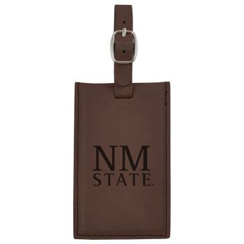 New Mexico State-Leatherette Luggage Tag-Brown