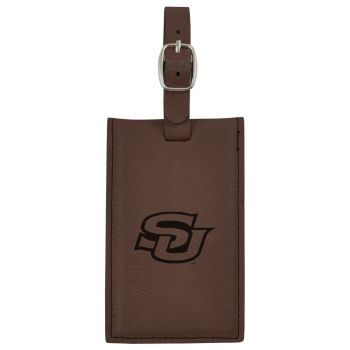 Southern University -Leatherette Luggage Tag-Brown
