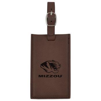 University of Missouri -Leatherette Luggage Tag-Brown