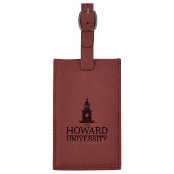 Howard University -Leatherette Luggage Tag-Burgundy