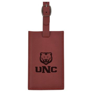 University of Northern Colorado -Leatherette Luggage Tag-Burgundy