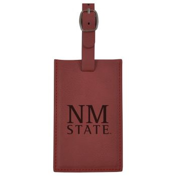 New Mexico State-Leatherette Luggage Tag-Burgundy