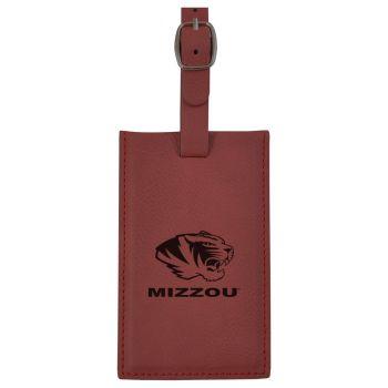 University of Missouri -Leatherette Luggage Tag-Burgundy