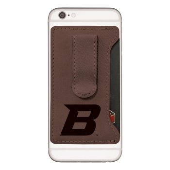 Boise State University -Leatherette Cell Phone Card Holder-Brown