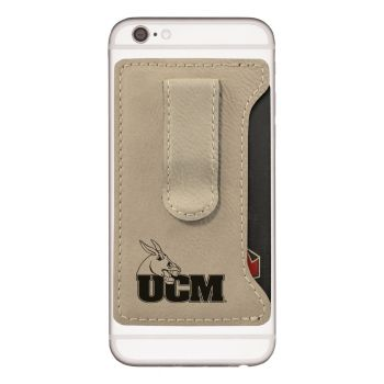 Arizona Wildcats -Leatherette Cell Phone Card Holder-Tan