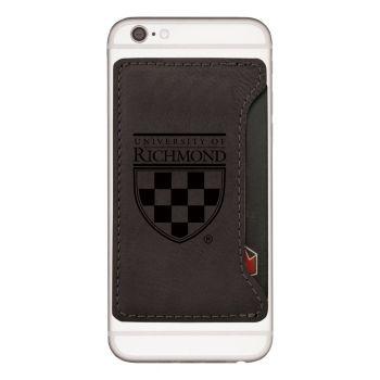 University of Richmond-Cell Phone Card Holder-Black