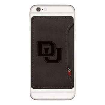 University of Denver-Cell Phone Card Holder-Black