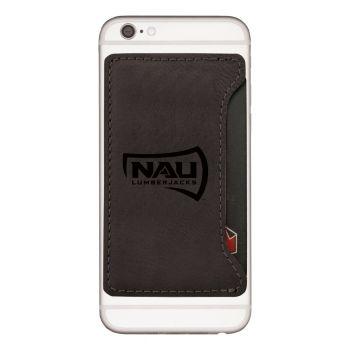 Northern Arizona University-Cell Phone Card Holder-Black