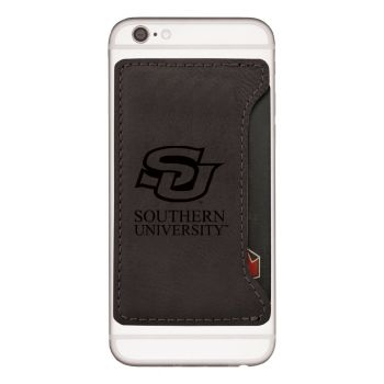 Southern University-Cell Phone Card Holder-Black