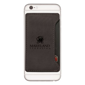 University of Maryland-Cell Phone Card Holder-Black