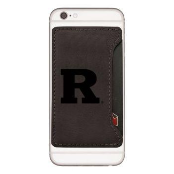 Rutgers University -Cell Phone Card Holder-Black