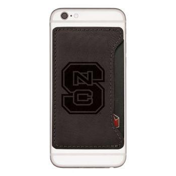 North Carolina State University-Cell Phone Card Holder-Black
