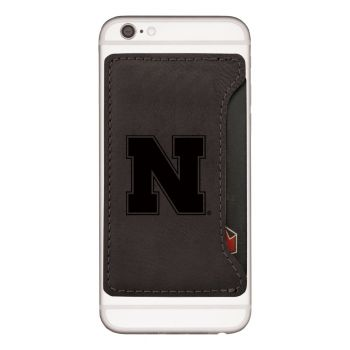 University of Nebraska-Cell Phone Card Holder-Black