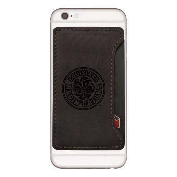 University of Louisiana at Lafayette-Cell Phone Card Holder-Black