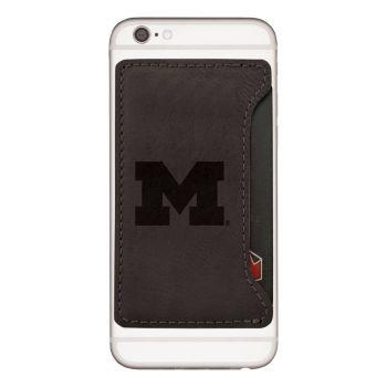 University of Michigan-Cell Phone Card Holder-Black