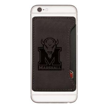 Marshall University-Cell Phone Card Holder-Black