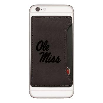 University of Mississippi-Cell Phone Card Holder-Black