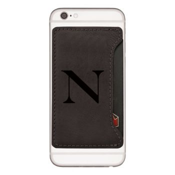 Northeastern University-Cell Phone Card Holder-Black