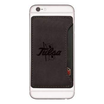 University of Tulsa-Cell Phone Card Holder-Black