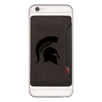 Michigan State University-Cell Phone Card Holder-Black