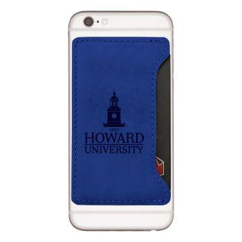 Howard University -Cell Phone Card Holder-Blue
