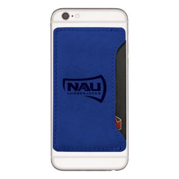 Northern Arizona University-Cell Phone Card Holder-Blue