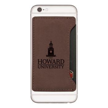 Howard University -Cell Phone Card Holder-Brown