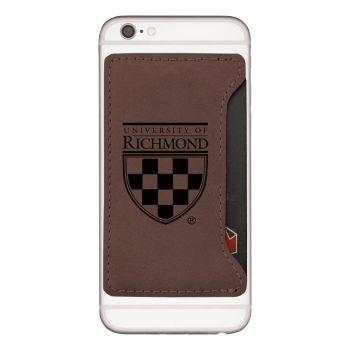 University of Richmond-Cell Phone Card Holder-Brown