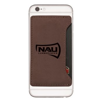 Northern Arizona University-Cell Phone Card Holder-Brown