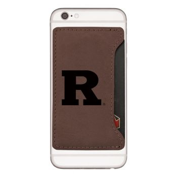 Rutgers University -Cell Phone Card Holder-Brown