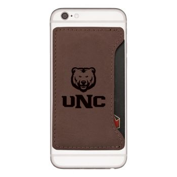 University of Northern Colorado -Cell Phone Card Holder-Brown