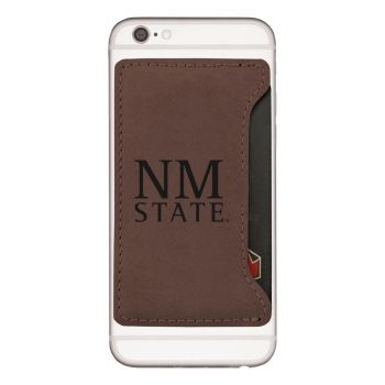 New Mexico State-Cell Phone Card Holder-Brown